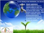 22 DE MARÇO DIA MUNDIAL DA ÁGUA